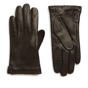 Frye Nora Whipstitch Lambskin Leather Gloves